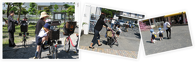 車でもOK!もちろん徒歩や自転車も!